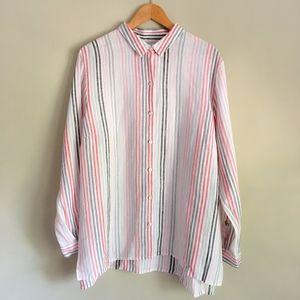 J. Jill Love Linen Essential Striped Shirt